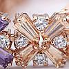 Женский браслет 18К позолота с цирконом, фото 3
