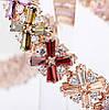 Женский браслет 18К позолота с цирконом, фото 4