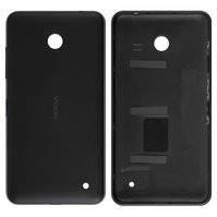 Задняя панель корпуса Nokia 630 Lumia Dual Sim, 635 Lumia, черная, с боковыми кнопками