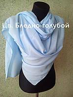 Палантин натуралка х/б+ вискоза, цв.бледно-голубой