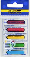 Стікер-закладки BUROMAX Неон 2304-98 45Х12мм  5х20 арк., фото 1