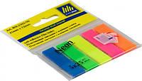 Стікер-закладки BUROMAX Неон 2302-98 45X12мм пластикові, фото 1