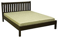 Двуспальная стильная деревянная кровать, производства мебельной фабрики Скиф. Модель Л-202