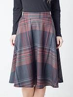 Модная женская юбка в клетку хорошего качества