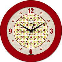 Настенные часы круглые 350Х350Х45мм [МДФ, Пластик, Под стеклом]