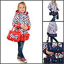 Детская демисезонная куртка на девочку синтепон плащевка Размеры 26-30 С сумочкой, фото 2