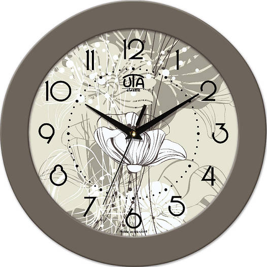 Часы настенные под ретро 330Х330Х45мм [МДФ, Пластик, Под стеклом]