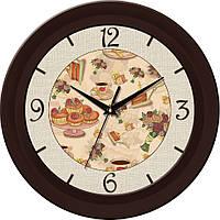 Часы кухонныe 330Х330Х45мм [МДФ, Пластик, Под стеклом]