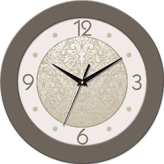 Настенные часы круглые 330Х330Х45мм [МДФ, Пластик, Под стеклом]