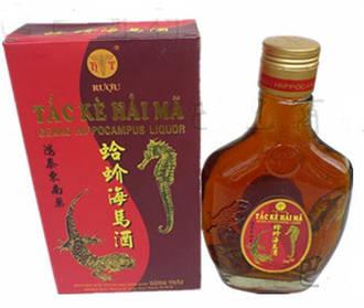 Рисовая настойка с гекконом, женьшенем и морским коньком, 700мл*