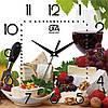 Настенные часы в кухню 300Х300Х16мм [МДФ, Открытые]