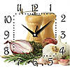 """Настенные часы в кухню 300Х300Х16мм """"Соль и перец"""" [МДФ, Открытые]"""