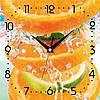 """Настенные часы в кухню 300Х300Х16мм """"Цитрусовый"""" [МДФ, Открытые]"""