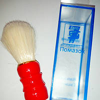 Помазок (кисточка) для бритья с белым ворсом