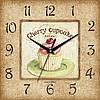 """Настенные часы в столовую """"Десерт с вишенкой"""" [МДФ, Открытые]"""