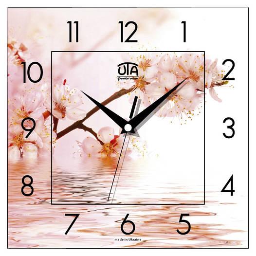 """Настенные часы 300Х300Х16мм """"Цвет сакуры"""" [МДФ, Открытые]"""