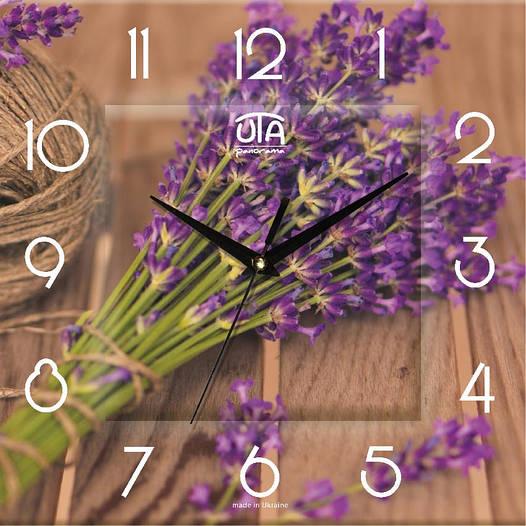"""Настенные часы 300Х300Х16мм """"Букет лаванды"""" [МДФ, Открытые]"""
