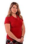 Джемпер малина мохеровый букле жилет женский вязаный ДЖ 482053, фото 2
