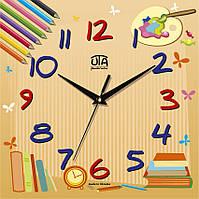 """Настенные часы в детскую 300Х300Х16мм """"Карандаши"""" [МДФ, Открытые]"""