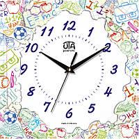 Настенные часы в детскую 300Х300Х16мм [МДФ, Открытые]