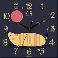 """Настенные часы в детскую 300Х300Х16мм """"Мышкка"""" [МДФ, Открытые]"""