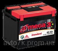 Аккумулятор на Ваз 2108 2109 21099 21082 2115 a-mega (Амега) 60 Ач