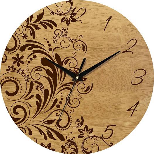 Часы настенные винтаж 330Х330Х30мм [Натуральное дерево, Открытые]