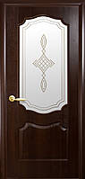 """Полотно дверное """" Вензель""""ПВХ Deluxe+ стекло"""