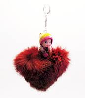Брелок-Сердечко с игрушкой-5 шт.