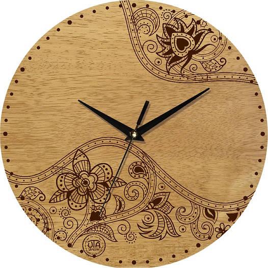 Часы настенные под ретро 330Х330Х30мм [Натуральное дерево, Открытые]