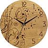 """Настенные часы 330Х330Х30мм """"Маки"""" [Натуральное дерево, Открытые]"""
