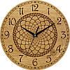 Часы настенные в стиле кантри 330Х330Х30мм [Натуральное дерево, Открытые]