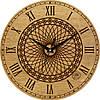 Настенные часы круглые 330Х330Х30мм [Натуральное дерево, Открытые]