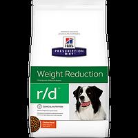 Hills  Prescription Diet Canine  r/d 12кг -корм для собак при ожирении (6655)