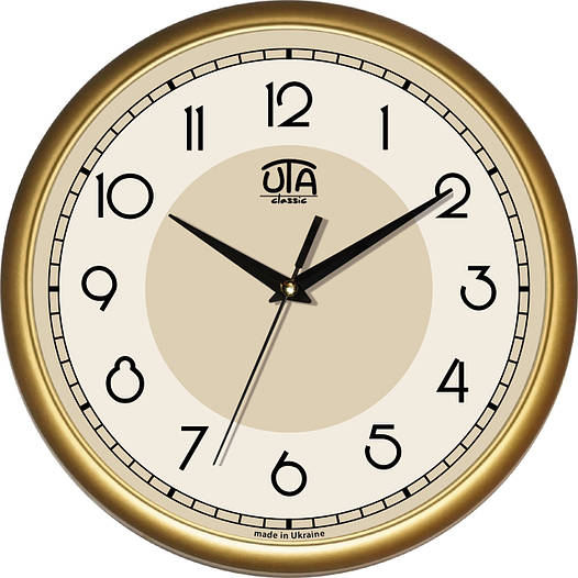 Офисные настенные часы 300Х300Х45мм [Пластик, Под стеклом]