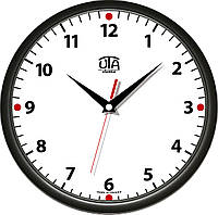 Настенные офисные часы 300Х300Х45мм [Пластик, Под стеклом] UTA-01-B-02 черные