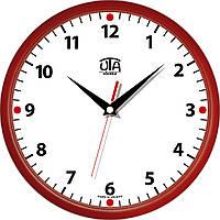 Настенные офисные часы 300Х300Х45мм [Пластик, Под стеклом] UTA-01-R-02 красные