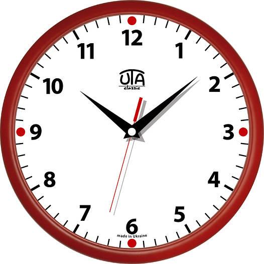 Настенные офисные часы 300Х300Х45мм [Пластик, Под стеклом]