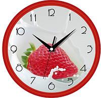 Настенные часы в кухню 300Х300Х45мм [Пластик, Под стеклом]