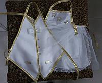Одежки для свадебного шампанского (кремово-золотисые)