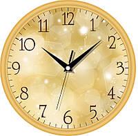Настенные офисные часы 300Х300Х45мм [Пластик, Под стеклом] UTA-01-G-16