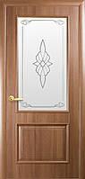 """Полотно дверное """"Вилла""""ПВХ Deluxe + сатиновое стекло с рис.1"""