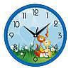 Настенные часы в детскую 300Х300Х45мм [Пластик, Под стеклом]