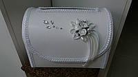 Сундук для свадебных денег раскладной (белый)