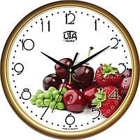 """Настенные часы на кухню """"Ягоды"""" [Пластик, Под стеклом]"""