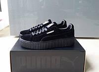 Кроссовки женские Puma x Fenty by Rihanna Velvet Creeper-Black