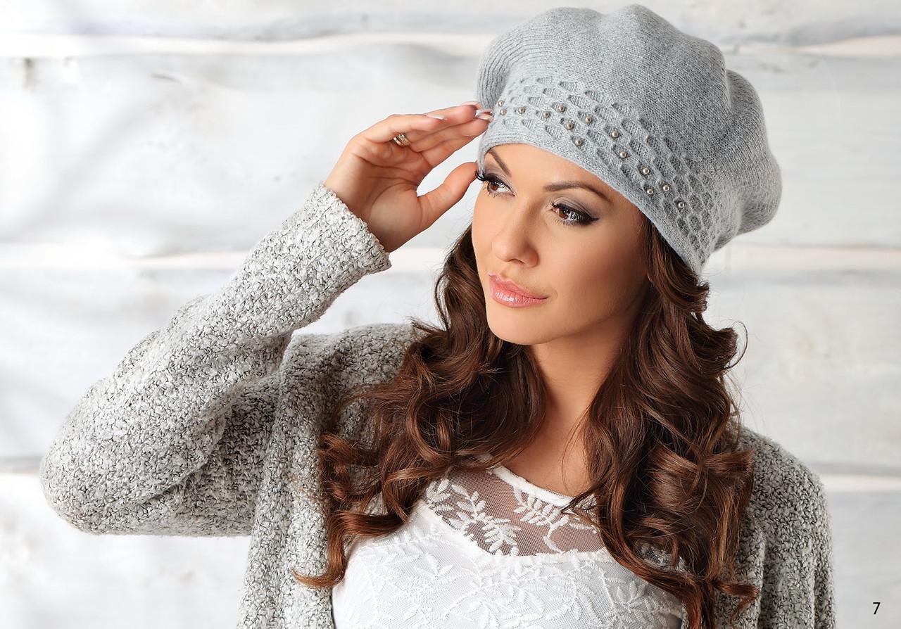 Шикарний жіночий бере з намистинками Zofia від Pawonex Польща