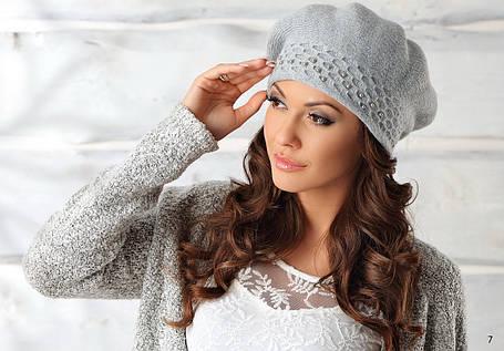 Шикарний жіночий бере з намистинками Zofia від Pawonex Польща, фото 2
