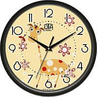 Настенные часы в детскую комнату 300Х300Х45мм [Пластик, Под стеклом] UTA-01-BL-30 черные