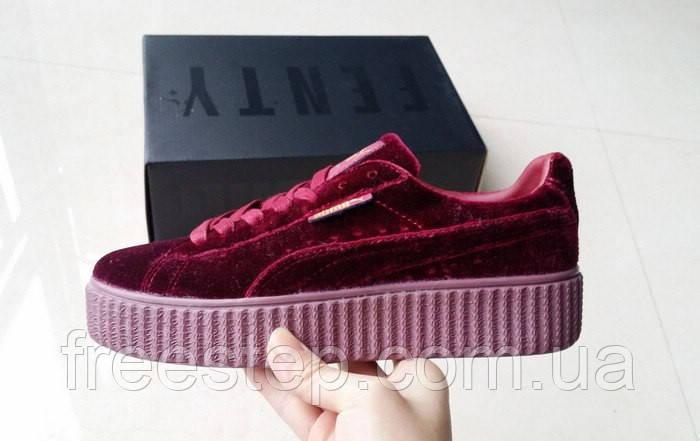 5404e37e8ff2 Женские кроссовки в стиле PUMA Rihanna Suede Creeper